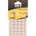 Cache vis PVC gris - Sachet de 100 pièces - GFD GLE Forgeage
