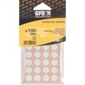 Cache vis PVC noir - Sachet de 100 pièces - GFD GLE Forgeage
