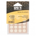 Cache vis PVC Chêne - Sachet de 100 pièces - GFD GLE Forgeage