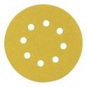 Disque papier auto-agrippant 8 trous - Ø125 mm - Grain 80 - SCID