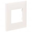 Plaque décor blanche - 1 Poste - Espace Evolution - Arnould