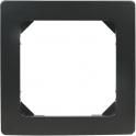 Plaque décor Noire mat - 1 poste - Liberty - Dhome