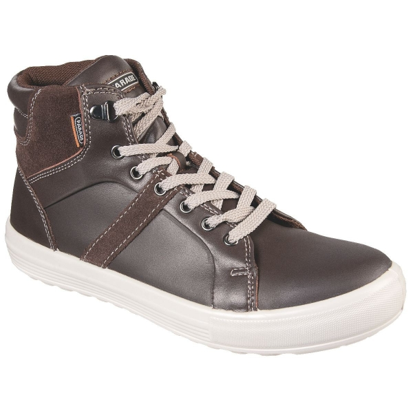 Chaussure de s curit haute marron vision parade cazabox - Chaussure de securite haute ...