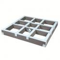 Kit rehausse carré - 1200 mm - écoulement centré - Wedi