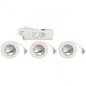 Kit spot halogène blanc encastré - Pour meuble - Lot de 3 pièces - Aric