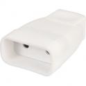 Fiche plastique blanche - 2P femelle - Dhome