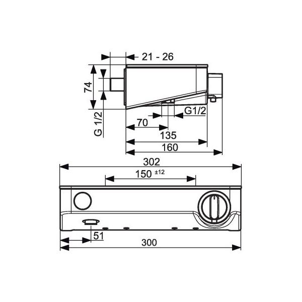 Mitigeur douche thermostatique  ShowerTablet Select 300