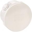 Boîte blanche ronde - Ø 65 mm - 4 embouts - Couvercle enclipsable - Gewiss