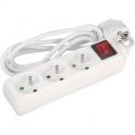 Bloc 3 prises standard - Avec interrupteur - Cordon 3G 1,5 mm² - Dhome