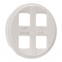 Enjoliveur blanc - Prise quadruple RJ45 - Céliane - Legrand