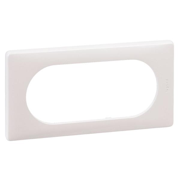 plaque neutre blanc tendue 2 postes c liane legrand. Black Bedroom Furniture Sets. Home Design Ideas