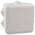 Boîte blanche carrée - 80 mm - 7 embouts à gradins - Couvercle enclipsable - Plexo - Legrand
