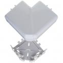 Angle plat 90° - Pour goulotte 50 x 105 mm - Couvercle 65 mm - DLP monobloc - Legrand