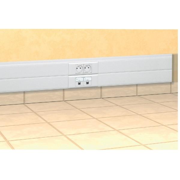 goulotte 2 compartiments 50 x 150 mm couvercle 65 mm. Black Bedroom Furniture Sets. Home Design Ideas