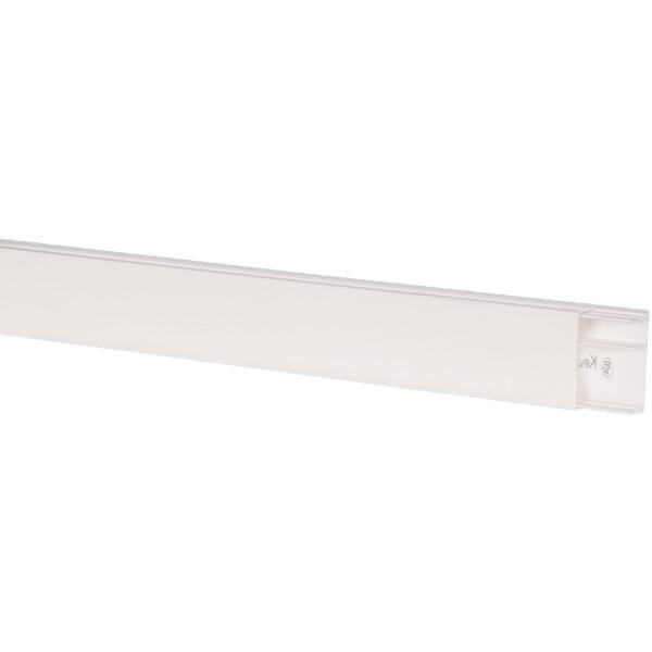 Moulure blanche 2 compartiments 50 x 20 mm avec for Cloison alveolaire 50 mm