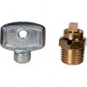 "Purgeur d'air laiton à carré - M 1/4"" - Watts industrie"