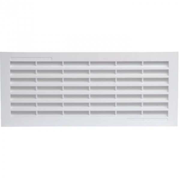 Grille d 39 a ration blanche 120 x 299 mm avec for Installer grille aeration fenetre