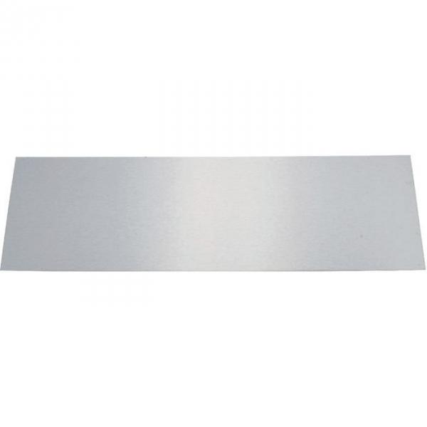 plaque de propret inox brillant rectangulaire 830 x 250 mm adh sive duval cazabox. Black Bedroom Furniture Sets. Home Design Ideas