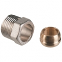 "Raccord bicône - M 1/2"" - Tube Ø 14 mm - Danfoss"
