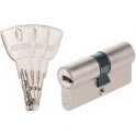 Cylindre 2 entrées varié nickelé - 90 x 30 mm - R9+ - Exem