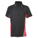 Polo rouge / noir - Two tone - Dickies
