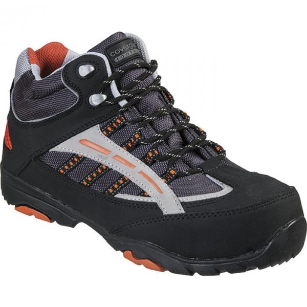 Chaussure de s curit haute noire orange 39 pointure - Chaussure de securite haute ...