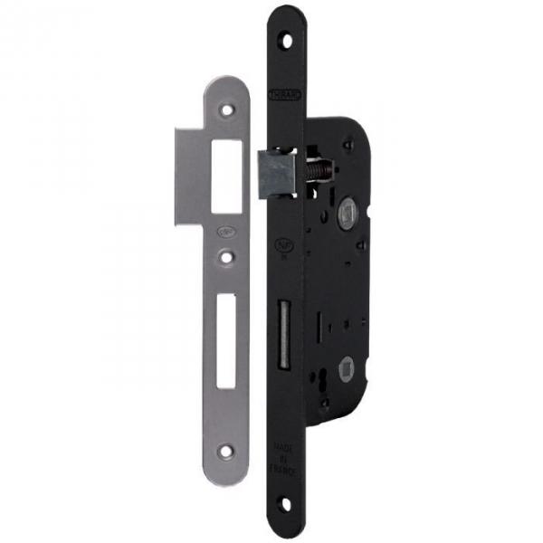serrure larder noire gauche fouillot condamnation axe 40 mm optimum thirard cazabox. Black Bedroom Furniture Sets. Home Design Ideas