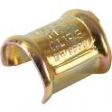 Agrafe zingué jaune pour collier clip - Tube Ø 18 mm - Vendu par 100 - Clips