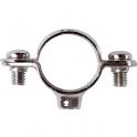 Collier laiton chromé simple - Tube Ø 28 mm - Atlas - Plombelec