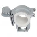 Collier isophonique à charnière zingué blanc simple - Tube Ø 32 - 28 mm - Vendu par 30 - Atlas Click - Plombelec
