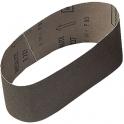 Bande courte corindon - 100 x 610 mm - Grain 120 - Support toile - Lot de 3 - SCID