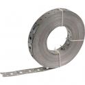 Bande perforée galvanisé - 25 mm - 25 m - Sélection Cazabox