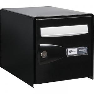 bo te aux lettres noire simple face probox decayeux cazabox. Black Bedroom Furniture Sets. Home Design Ideas