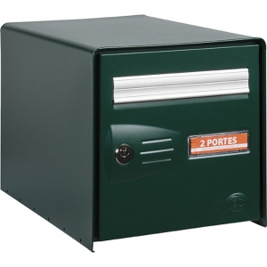 bo te aux lettres verte double face master box decayeux cazabox. Black Bedroom Furniture Sets. Home Design Ideas