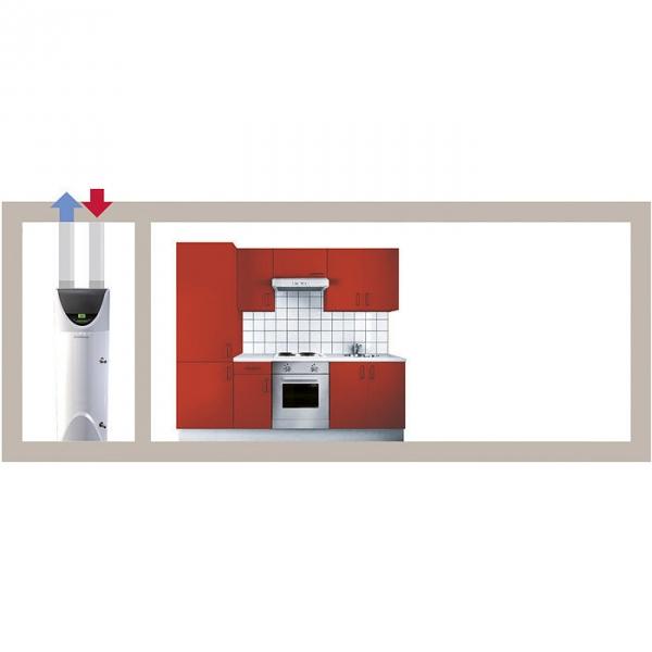 chauffe eau thermodynamique nuos primo 242 l monophas 2000 w ariston cazabox. Black Bedroom Furniture Sets. Home Design Ideas