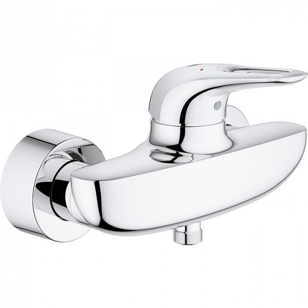 Mitigeur douche mural entraxe 150 mm eurostyle grohe for Mitigeur mural grohe