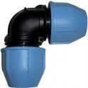 Raccord plastique coudé à 90° à serrage - Ø 40 mm - Unistar