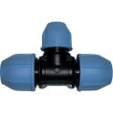 Raccord plastique réduit en T à serrage - Ø 32 - 25 - 32 mm - Unistar