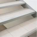 Cornière de protection d'angles grise claire - 2,40 m - Vachette