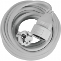 Rallonge câble souple grise - 10 m - 3G1,5 mm² - Dhome