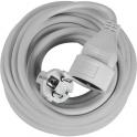 Rallonge câble souple blanche - 5 m - 3G1,5 mm² - Dhome