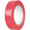 Ruban adhésif isolant rouge - 15 mm - 10 m - Dhome
