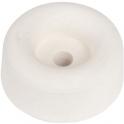 Butoir rond caoutchouc blanc creux - Ø 30 x 20 mm - Civic industrie