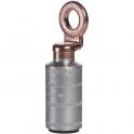 Cosses aluminium à anneau cuivre à fût court à souder - Ø tête 20 x 10,5 mm - Section 95 mm² - Vendu par 3 - Klauke