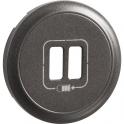 Enjoliveur graphite - Prise double chargeur USB - Legrand