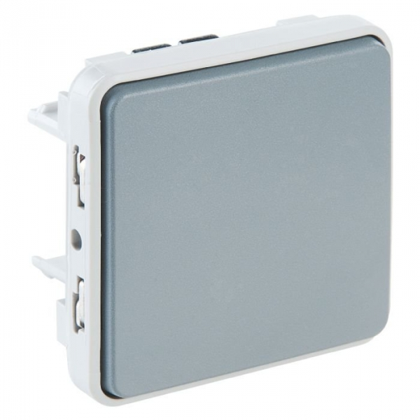 Interrupteur va et vient gris composable plexo legrand for Changer interrupteur va et vient
