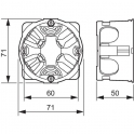 Boîte d'encastrement cloison sèche - Ø 67 x 50 mm - 1 poste - Batibox - Legrand
