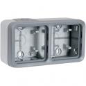 Boîtier gris composable - 2 postes horizontaux - Plexo - Legrand