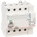 Interrupteur différentiel tétrapolaire DX³ ID - Type AC - 63 A - 5 modules - Connexio vis / auto -  Arrivée haut / départ bas -