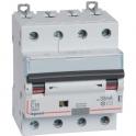 Disjoncteur différentiel monobloc DX³ 6000 - 10 kA courbe C - 16 A - Sensibilité 30 mA - 4 modules - Connexion auto / vis - Legr